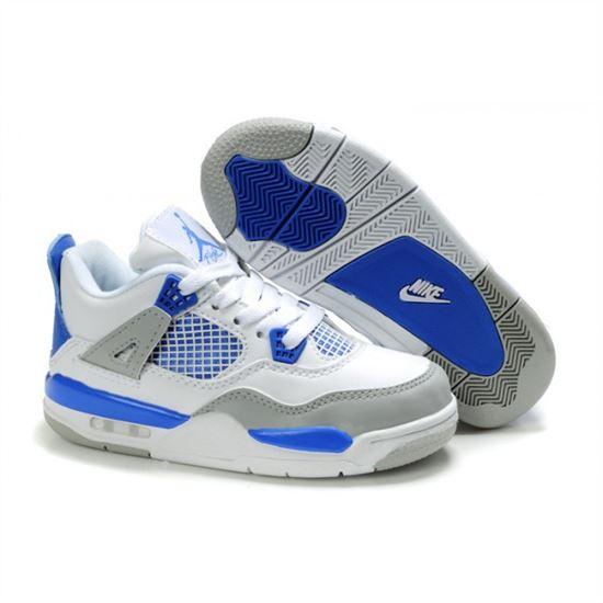 best website 9d00a a95c8 Children Air Jordan 4 Retro White Blue Grey, Nike Running ...