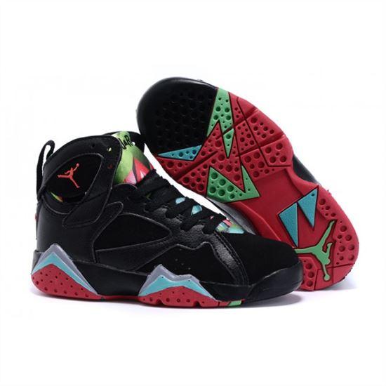 finest selection 34912 27615 Kids Nike Air Jordan Retro 7 Black Red Green Blue