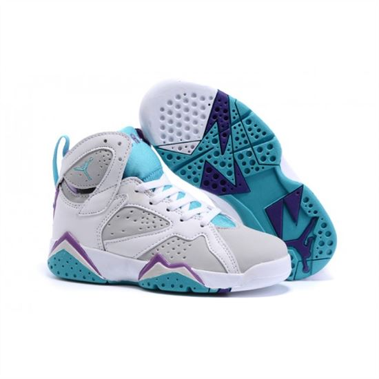 100% authentic b906f 7c897 Kids Nike Air Jordan Retro 7 White Blue Purple, Nike Running ...