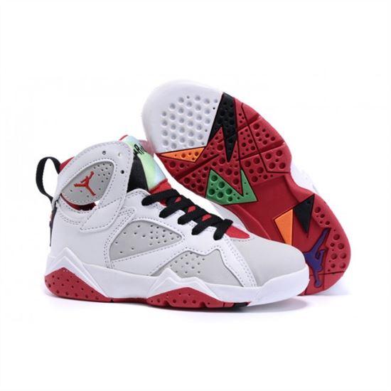 reputable site f47b4 528d7 Kids Nike Air Jordan Retro 7 White Red, Nike Running Shoes ...
