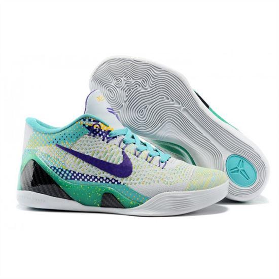 best website 8b3c2 af0d1 Mens Nike Kobe 9 Low Flyknit Grey Blue Purple