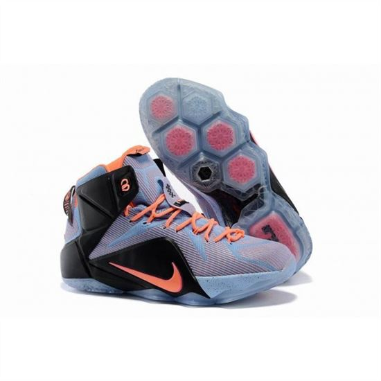 25895bcb0fa Mens Nike Lebron James 12 Blue Orange Balck