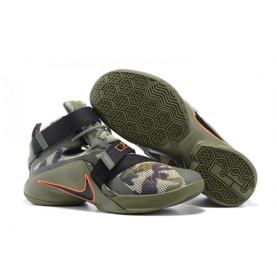 701bec3a4a2 Mens Nike Zoom LeBron Soldier 9 Camo Green