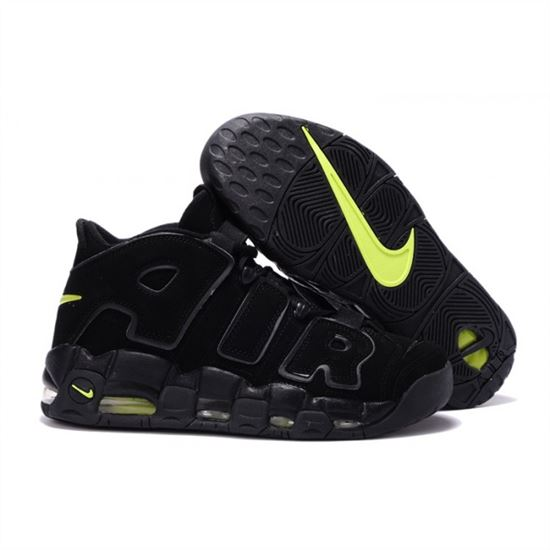 best sneakers c13e2 d6247 Mens Nike Air More Uptempo Black Fluorescent Shoes, Nike Running ...