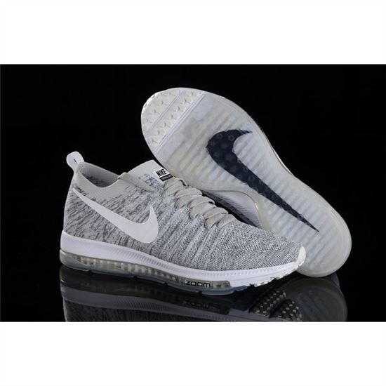 huge selection of a2c05 54088 Women Nike Zoom All Out Flyknit Light Gray Shoes