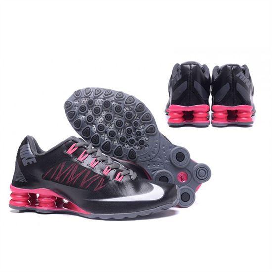 buy popular 9a6cf 88faa Womens Nike Shox Avenue 808 Black Pink Shoes, Nike Running ...
