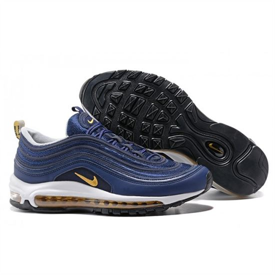 best sneakers 16622 6d085 Mens Nike Air Max 97 Navy Yellow Shoes, Nike Running Shoes For Women ...