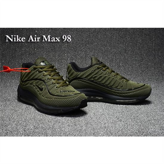 Nike Air Max 98 Men Shoes Olive Black, Nike Running Shoes