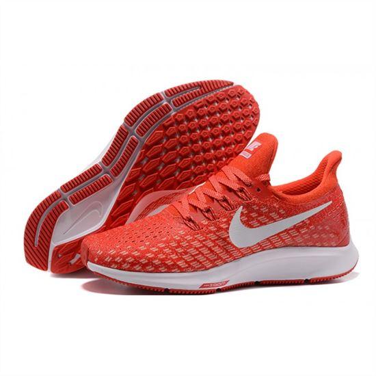 e7a3f5ec6e Mens Nike Air Zoom Pegasus 35 Red White Shoes