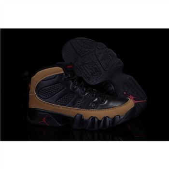 new product 2b2b0 1e27b Kids Air Jordan Shoes 9 Black Brown