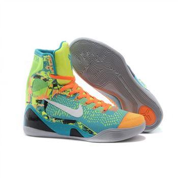 timeless design f9146 42268 Mens Nike Kobe 9 Elite Blue Orange Black