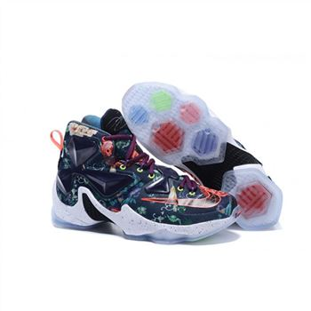 Mens Nike Lebron James 13 Dark Blue Flora
