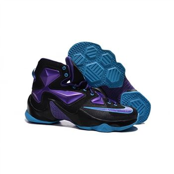 Mens Nike Lebron James 13 Black Purple Blue