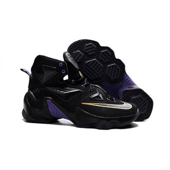 Mens Nike Lebron James 13 Black Purple Gold
