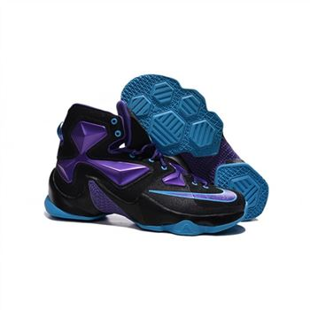 Mens Nike Lebron James 13 Black Purple Jade