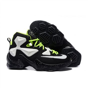 Mens Nike Lebron James 13 Black White Green