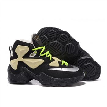 Mens Nike Lebron James 13 Black Yellow Green