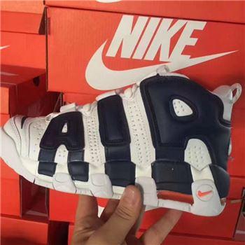 more photos b7dcc 5cccf Mens Nike Air More Uptempo Black White Pink Sheos