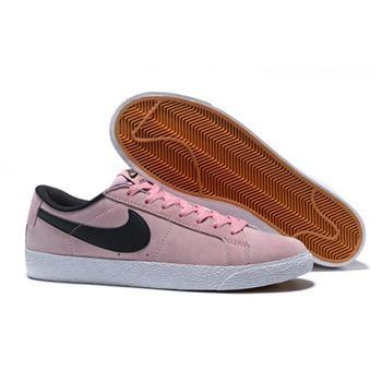 reputable site c0811 3c649 Nike SB Blazer Zoom Low Mens Skateboarding Shoes Pink Black
