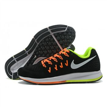 finest selection 11083 30729 Mens Nike Air Zoom Pegasus 33 Shoes Black Orange Green