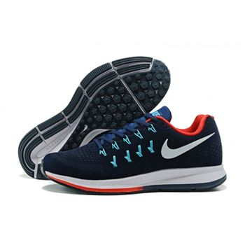 599c521c953d Mens Nike Air Zoom Pegasus 33 Shoes Navy Red Blue