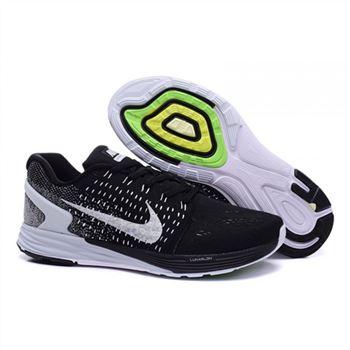brand new e48e8 faf70 Nike Lunarglide 7 Mens Shoes Black White