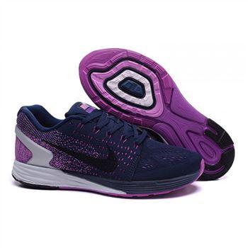san francisco e7b10 db40b ... Nike Wmns Lunarglide 7  Nike Lunarglide 7 Mens Shoes Purple Navy Black  ...