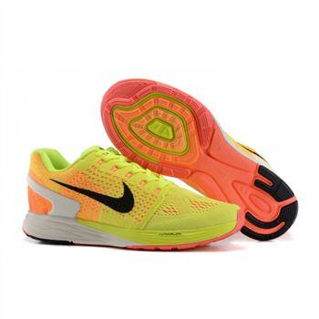 super popular fe97a e0bef Nike Lunarglide 7 Mens Shoes Yellow Orange