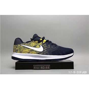 outlet store f50b8 135b5 Nike LunarLaunch Shoes Navy Yellow For Men