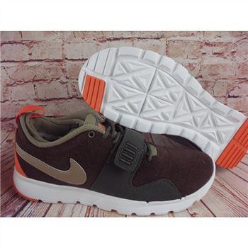 sports shoes cea32 58c29 Nike SB Trainerendor L Brown Green Orange Shoes