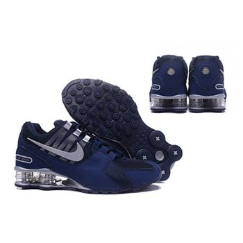 wholesale dealer ed47e 994da Mens Nike Shox Avenue Shoes Navy Silver