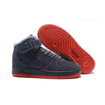 Nike Air Force 1 High Mens Gray Shoes