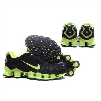 Mens Nike Shox TLX Shoes Black Green