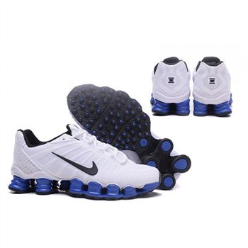 Mens Nike Shox TLX Shoes White Black Blue