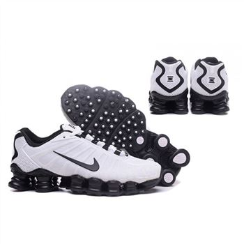 Mens Nike Shox TLX Shoes White Black