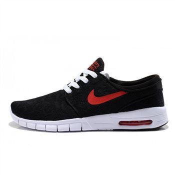055563c52ca0 2014 Nike SB 90 Stefan Janoski Max Shoes Black Red
