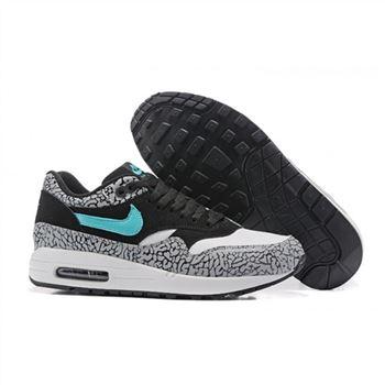 9a59c70edd78 Nike Air Max 87 Black White Blue Womens Shoes