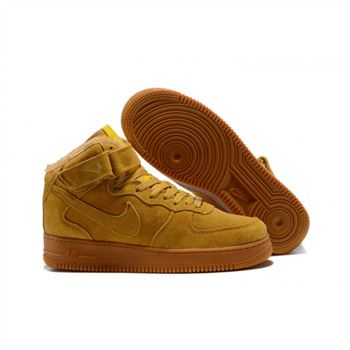 Nike Air Force 1 High Womens Yellow Shoes