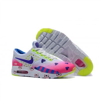 best service 3527d 8bdf4 Nike Air Max Zero Qs Shoes For Women White Colorful