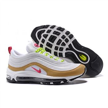 Womens Nike Air Max 97 White Gold Shoes