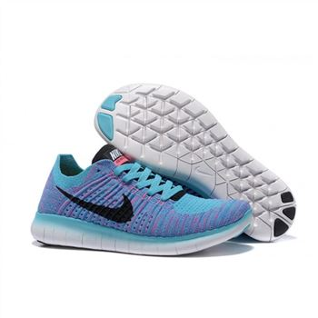 the best attitude df206 3a0d5 Nike Free Flyknit 5.0 Womens Blue Peachblossom Black Shoes