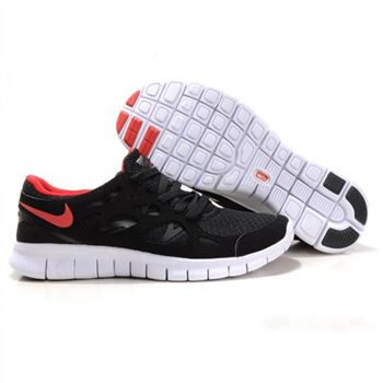 designer fashion 3b781 d5daf Nike Free Run 2 Womens Shoes Black Red