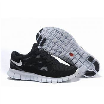 big sale 5a784 8ef9c Nike Free Run 2 Womens Shoes Black White