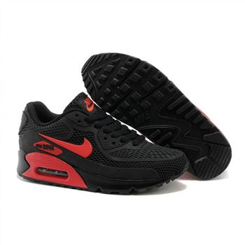 Air Max 90 Mens Shoes Black Red