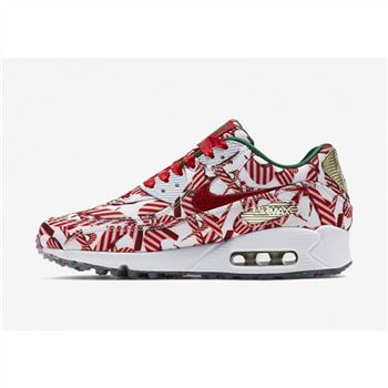 Air Max 90 Mens Shoes Red Gold White
