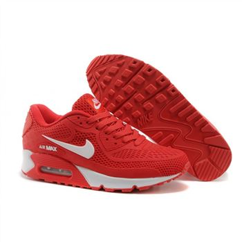Air Max 90 Mens Shoes Red White