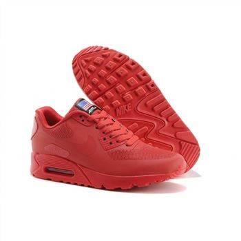 Men Nike Air Max 90 All Red Shoes