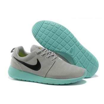 outlet store 152ad a1978 Womens Nike Roshe Run Shoes Gray Mint Green