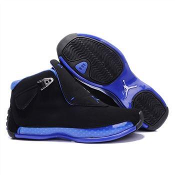 b871bcf1ffe 305869-107 Air Jordan 18 Original OG Women Black Blue A24004