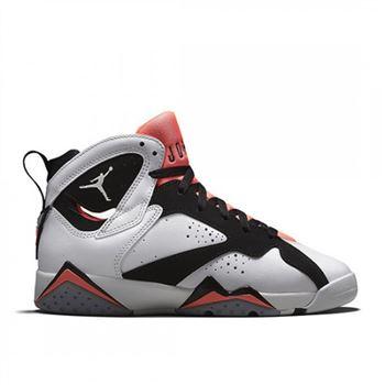big sale 1a961 a427f Authentic 442960-106 Air Jordan 7 Retro Girls White Black-Hot Lava-